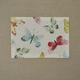 Cotton placemat with scattered butterfly print