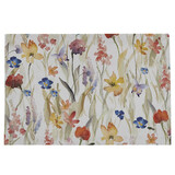 Cotton placemat printed with enchanted flower garden motif