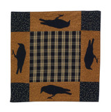 12 inch table linen, applique with patches of birds