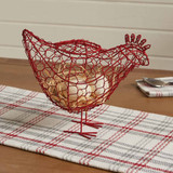 Metal red rooster figure table decor