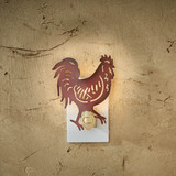 Punched tin Red Rooster night light