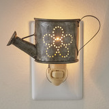 Punched tin, watering can night light