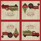 Christmas paper lunch napkins, set of 12, 4 different designs
