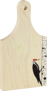 9 inch maple cutting board, Woodpecker print on bottom right corner