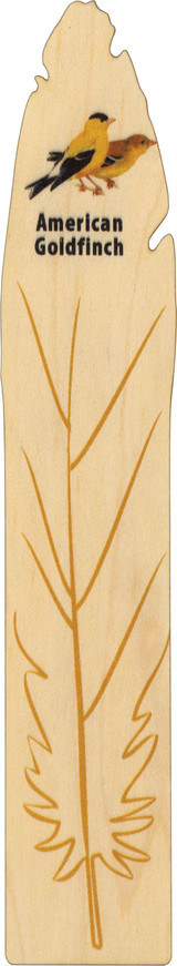Maple Wood Bookmark, Made in Vermont, American Goldfinch