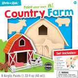 Premium paint kit for kids over 3 years old, country farm
