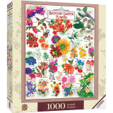 1000 piece jigsaw puzzle, Old Farmer's Almanac, Garden Florals, pictures of flowers with names