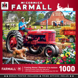 1000 piece jigsaw puzzle features the Farmall tractor, Coming Home scene