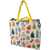 Reusable tote/grocery bag with vegetables design.
