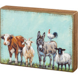 Box Sign - Family of Farm Animals