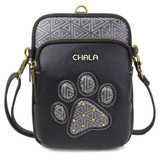 Cell Phone purse - xbody - pawprint-black
