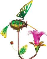 Ellipse Flower Solar Stake - Hummingbird