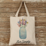 Cotton Tote Bag - Live Simply