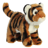 tiger plush toy left side view