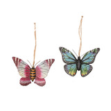 Butterfly Christmas ornament set of 2
