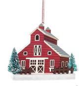 red barn tree ornament