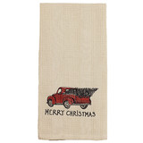 Red Truck Christmas Dish Towel
