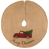 Christmas Tree Skirt with Truck