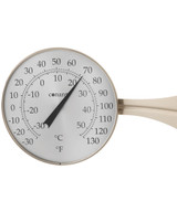 """Décor 8.5"""" Dial Thermometer (Satin Nickel)"""