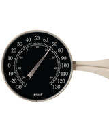"""Décor High Contrast Black 8.5"""" Dial Thermometer (Satin Nickel)"""