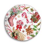 Peppermint Melamine Serveware Cookie Plate
