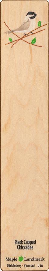 Chickadee Wooden Bookmark