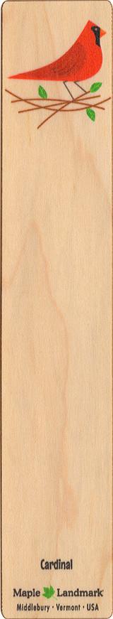Cardinal Wooden Bookmark