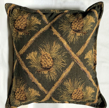 Pine Cones Green - Balsam Fir Filled Pillow