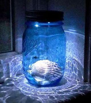 Moon Shiner Mason Jar Lid Light