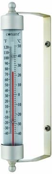 Indoor/Outdoor Thermometer - Satin Nickel