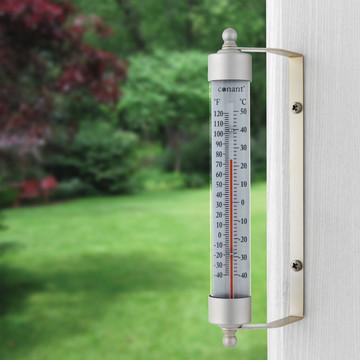 Original Vermont Outdoor Thermometer - Satin Nickel