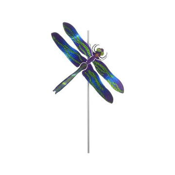 Color Infused Metal Garden Stake - Dragonfly