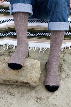 Alpaca Fleece Outdoor Adventure Socks - COCOA BROWN
