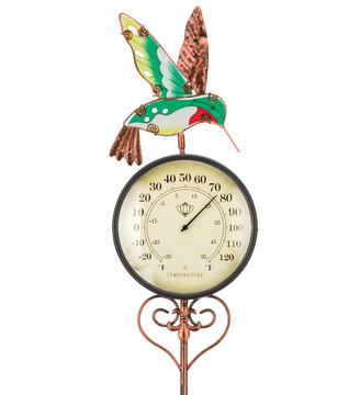 Thermometer Stake - Hummingbird
