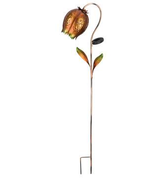 Solar Copper Tulip Stake