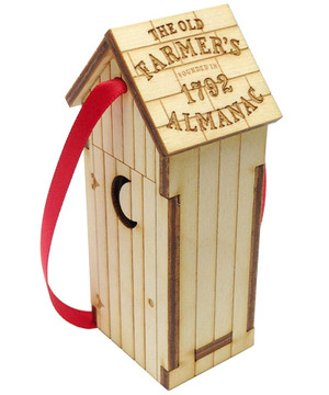 Old Farmer's Almanac Outhouse Ornament