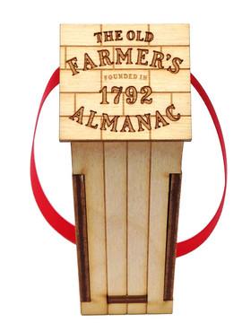 Old Farmer's Almanac Outhouse Ornament