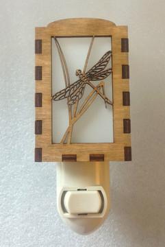 Village Craftsman Wooden Night Lights - Dragonfly