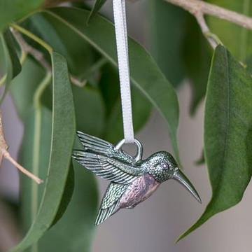 Hummingbird Pewter Ornament