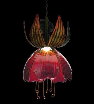 Solar Fuchsia Lantern - Orange/Red