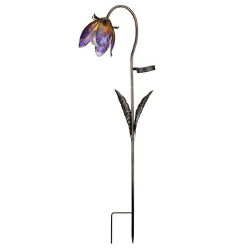 Solar Wildflower Stake - Purple