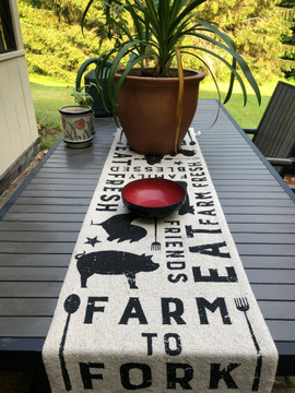 Table Runner - Farm To Fork