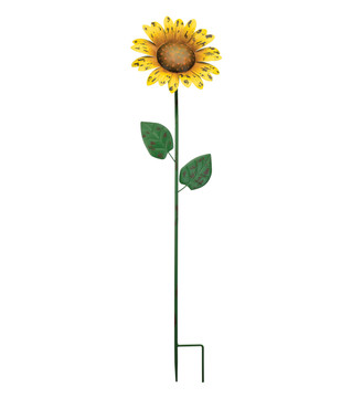 Rustic Sunflower Stake 36""