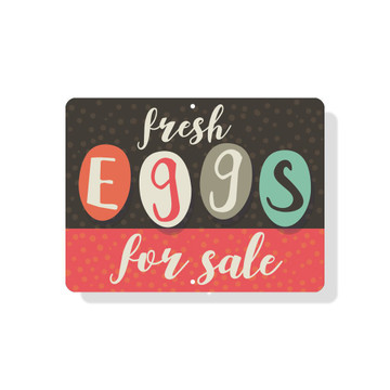 "Fresh Eggs For Sale Sign - 9"" X 12"" - Mod"