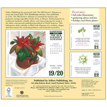 The 2019 Old Farmer's Almanac Gardening Boxed Daily Calendar