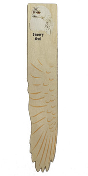 Snowy Owl Wooden Wing Bookmark