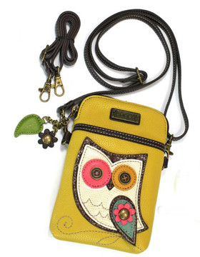 Cell phone purse / bag with owl design.