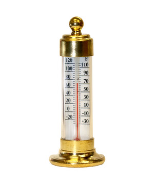 Small Brass Desk Thermometer