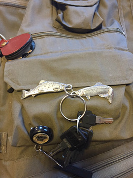 Trout Pewter Key Ring