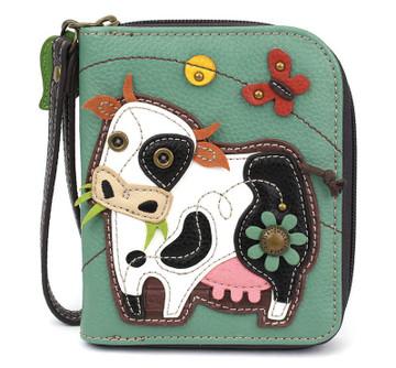 Zip Around Wallet - Cow